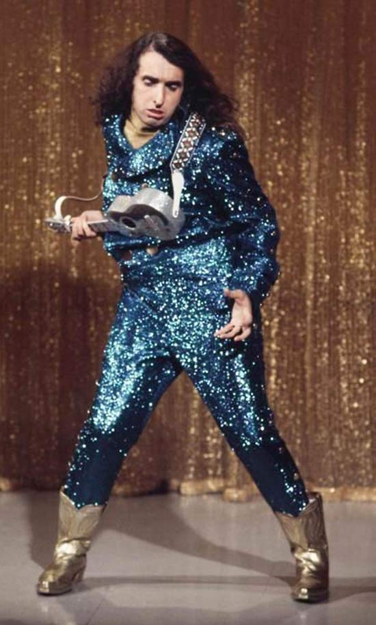 Vintage Color Snapshot : Tiny Tim in Sequins Dancing