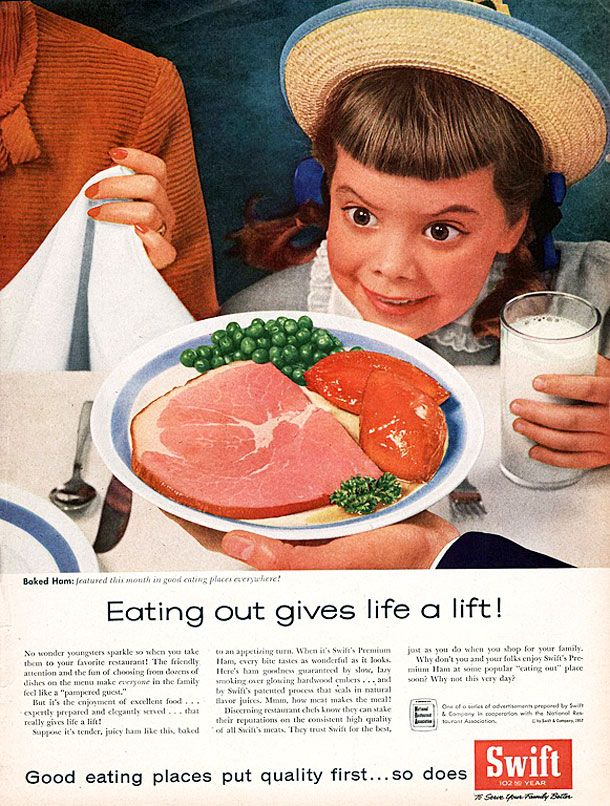 Vintage Ads: Creepy Kid for Swift. Eat Out Gives a Lift