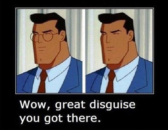 32 Examples of Funny Cartoon Logic ~ Superman Disguise