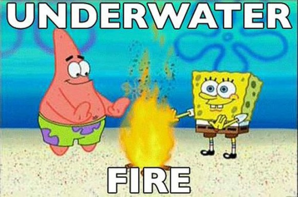 32 Examples of Funny Cartoon Logic ~ Underwater Fire
