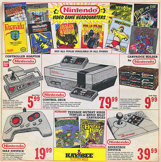 vintage nintendo ads console controllers prices