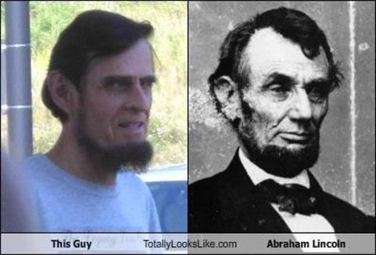 Celebrities that look like Historical Figures ~ abe lincoln