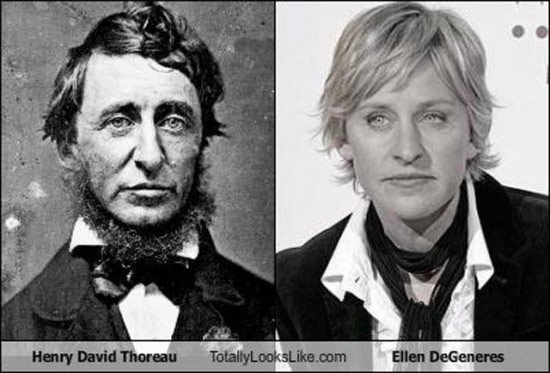 Celebrities that look like Historical Figures ~ Ellen Degeneres Henry David Thoreau