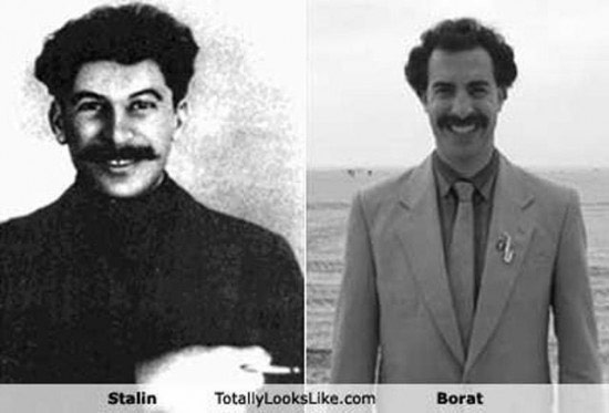 Celebrities that look like Historical Figures ~ Stalin Borat