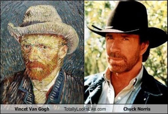 Celebrities that look like Historical Figures ~ Van Gogh Chuck Norris