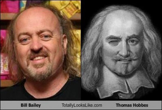Celebrities that look like Historical Figures ~ Bill Baily Thomas Hobbes
