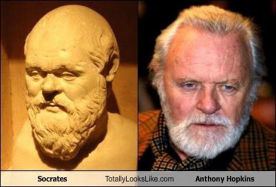 Celebrities that look like Historical Figures ~ Socrates Anthony Hopkins