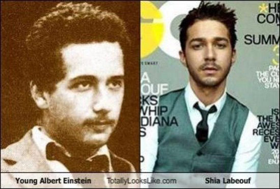 Celebrities that look like Historical Figures ~ Young Einstein Shia LaBeouf