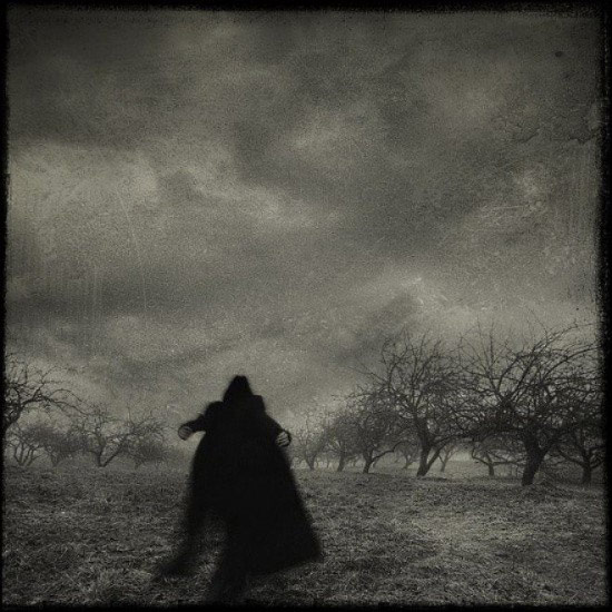 Creepy Old Vintage Photos~ scary man running in field ghost