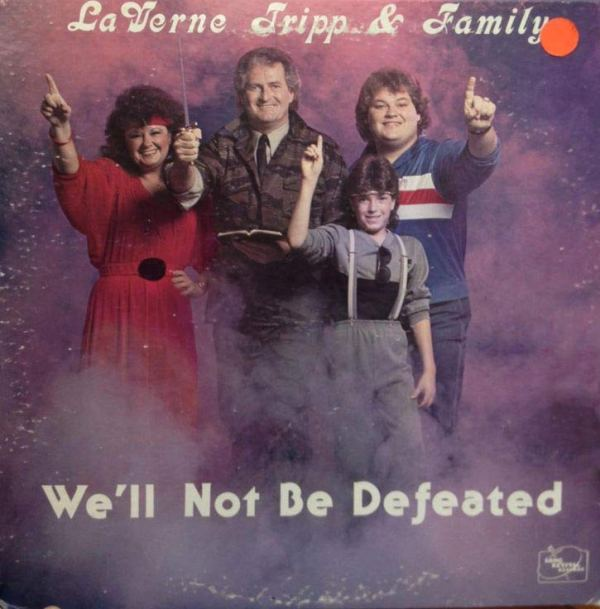 LaVerne Family We'll Not Be Defeated ~ Funny, Creepy Bad Album Cover Art