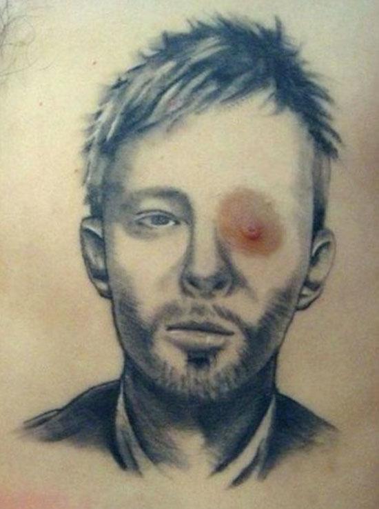 thom yorke radiohead Best worst nipple tattoos