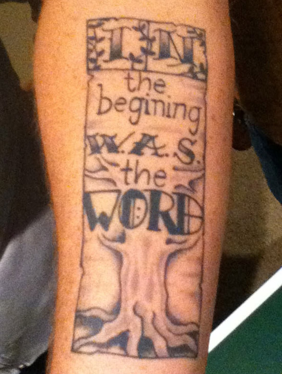 misspelled in the beginning wast the word ~The Ugliest Worst Bad Tattoos
