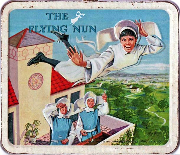 vintage flying nun lunch box sally fields