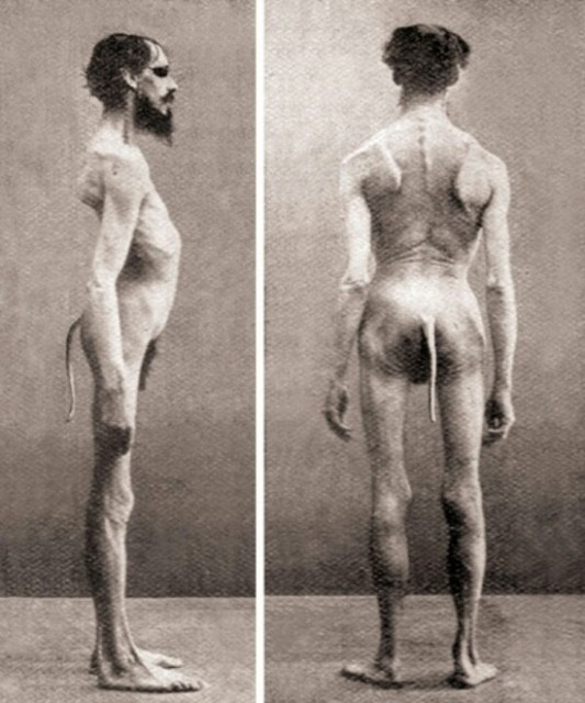 Scary Weird Creepy Old Photos ~ freaky human with tail