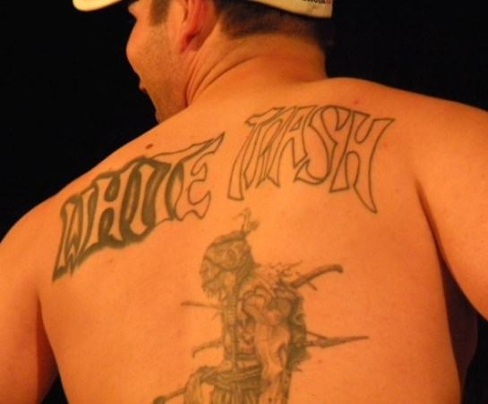 white trash on back worst bad tattoos fails
