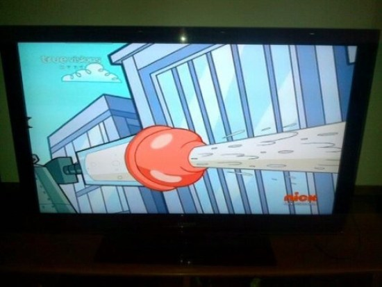 Funny, you wouldn't expect to find a penis there ~ nickelodion cartoon