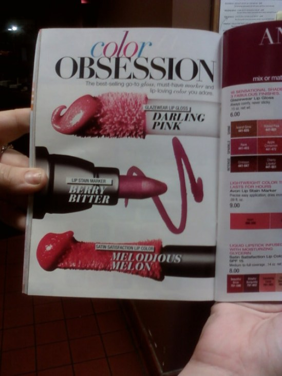 Funny, you wouldn't expect to find a penis there ~ avon magazine ad