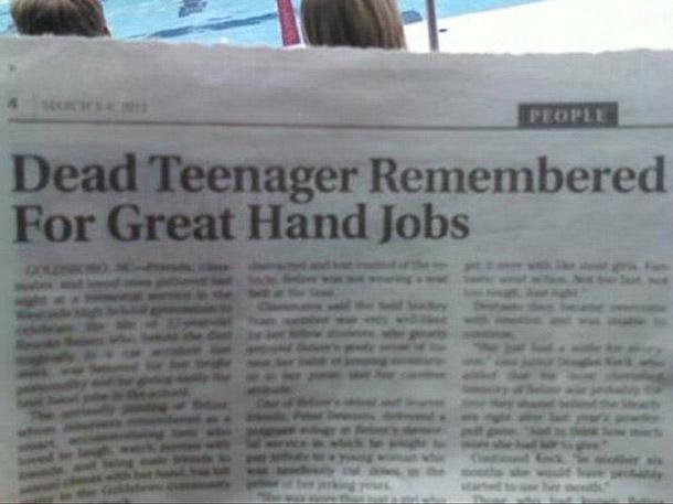 great newspaper headlines