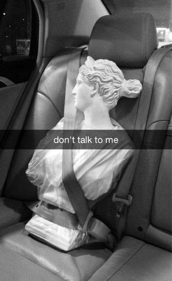Funny Snapchats~ Art History, don't talk to me
