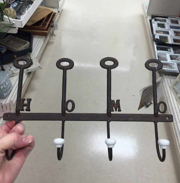 """Coat rack with """"Home"""" misspelled- Home ~ Funny You Had One Job Fails"""