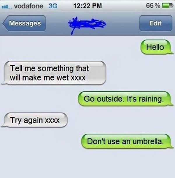 Funny flirt text
