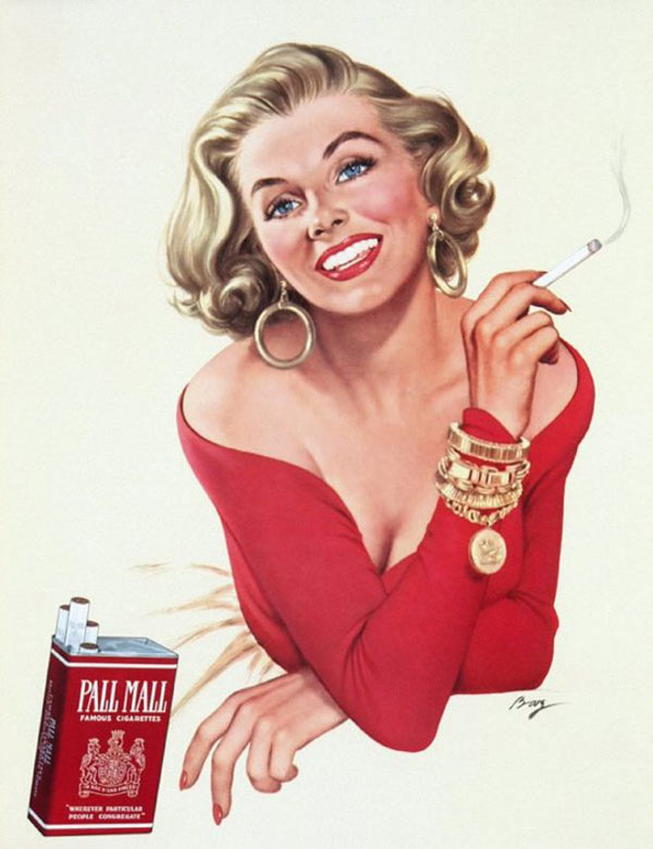 vintage pall mall cigarette ad pin up