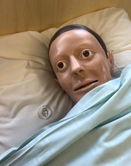 Funny Pics~ creepy mannequin in bed