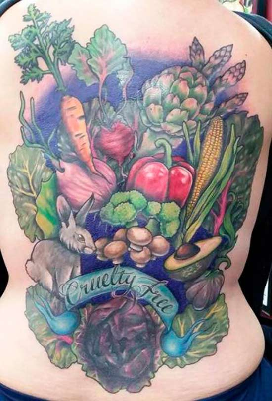 33 Funny Pics & Memes ~ Awesome back tattoo vegan cruelty free