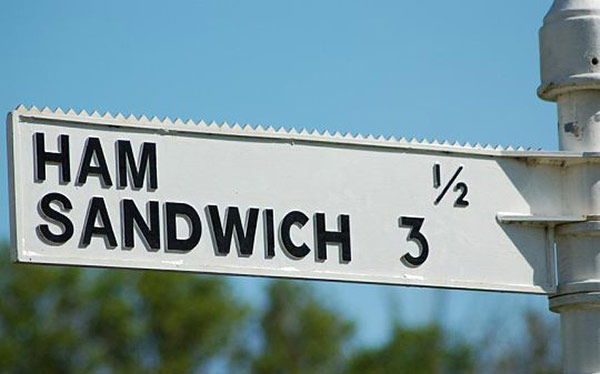 27 Funny Signs That Fail Big Time ~ ham sandwich street sign
