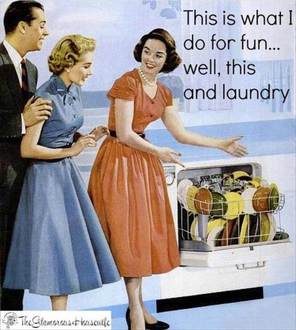 Funny Pics ~ 37 Outrageous Images ~ 1950's sarcastic housewife meme ~ what I do for fun