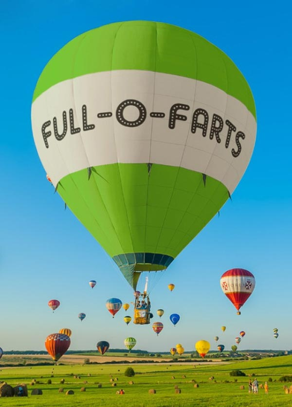 33 Funny Pictures ~ hot air balloon full-o-farts