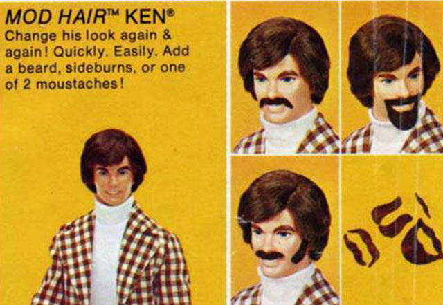 Funny Pics ~ 37 Outrageous Images! ~ mod hair Ken doll ad barbie