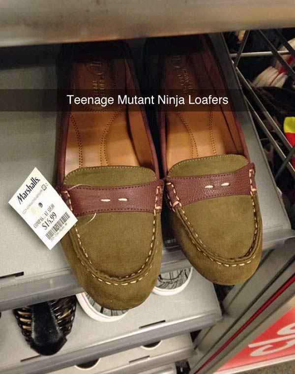 35 Funny Pics ~ Funny Snapchat Teenage Mutant Nnija Loafers