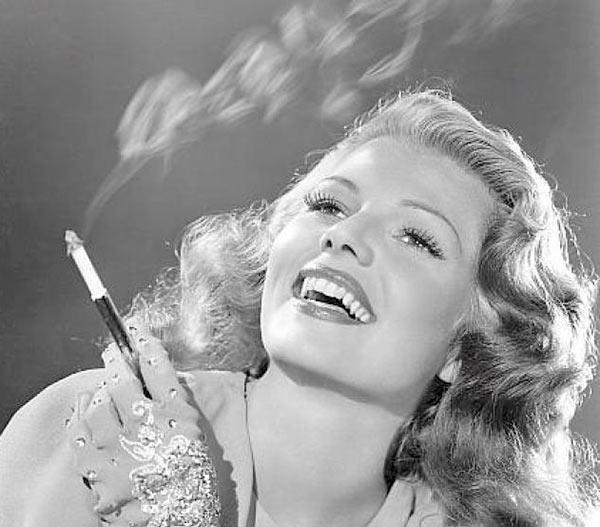 vintage glamor shot, movie still, bombshell smoking