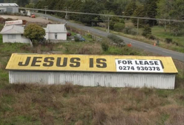 Funny Ad Placement Fails ~ Jesus For Lease