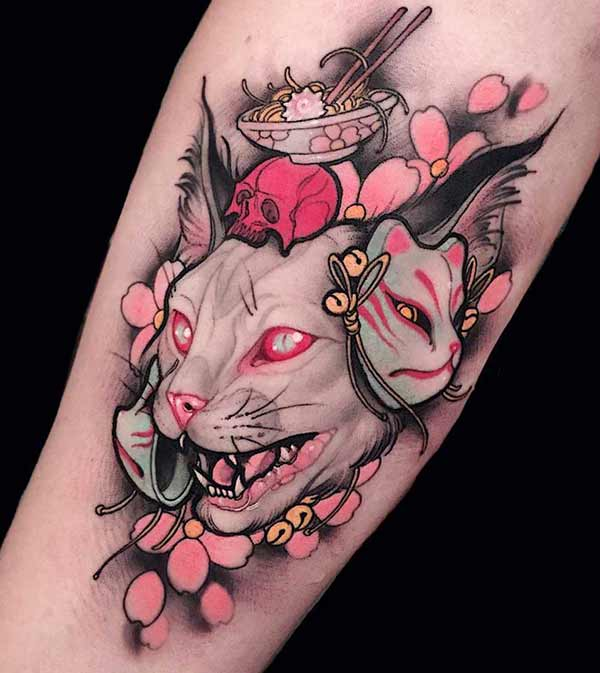 Incredible arm tattoo cat