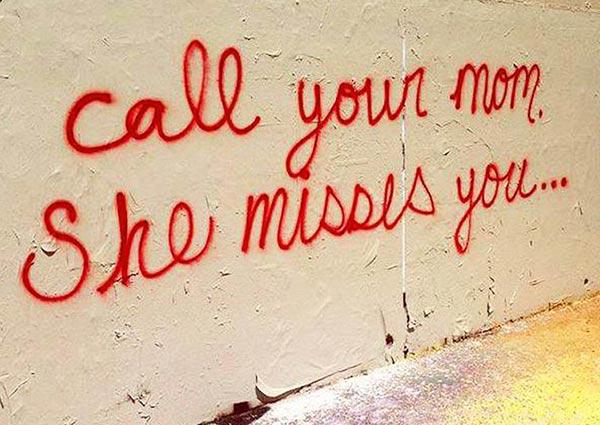 Funny Pics & Memes ~ graffiti call your mom