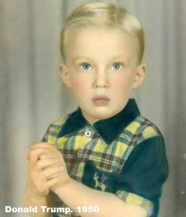 Vintage pic of Donald Trump as a child, 1950