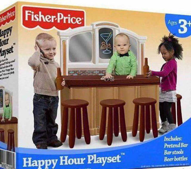 Funny Pics Memes ~ Fisher Price Happy Hour Playlet