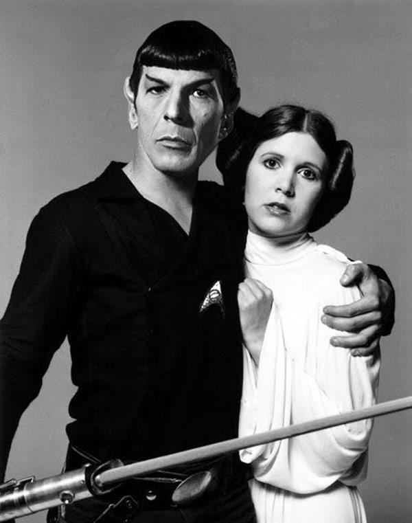 Funny Pics & Memes ~ Carrie fisher Leonard Nimoy Princess leia Spock