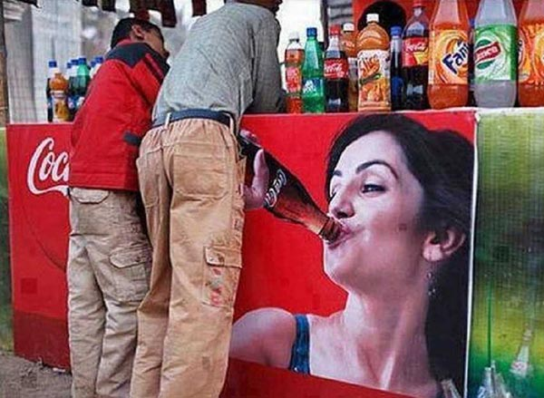 funny ad placement fails ~Coke billboard bj