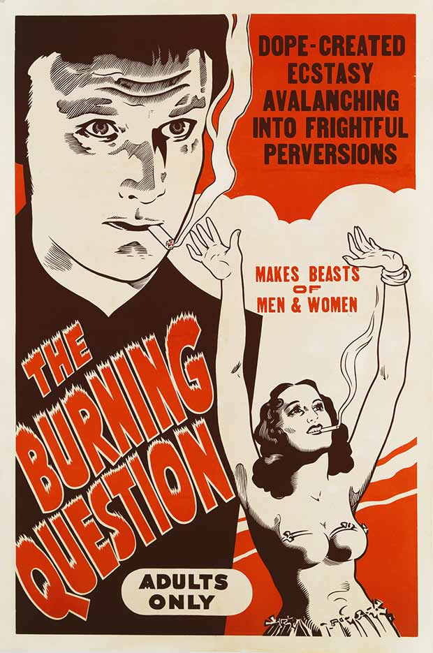 Buning Question ~ 13 anti-reefer movie posters from the 1930's & 40's. Propaganda to fight marijuana use in teens and adults