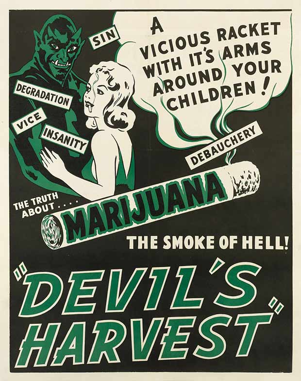 Devil's Harvest ~ 13 anti-reefer movie posters from the 1930's & 40's. Propaganda to fight marijuana use in teens and adults
