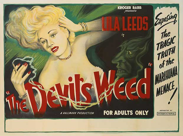The Devil's Weed ~ 13 anti-reefer movie posters from the 1930's & 40's. Propaganda to fight marijuana use in teens and adults