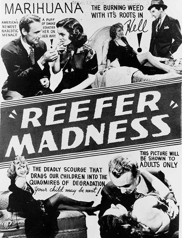 Reefer Madness ~ 13 anti-reefer movie posters from the 1930's & 40's. Propaganda to fight marijuana use in teens and adults