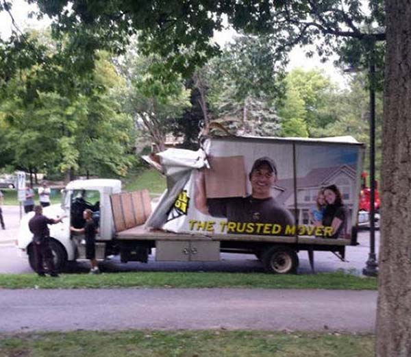 27 You Had One Job Fails ~ trusted movers truck crash