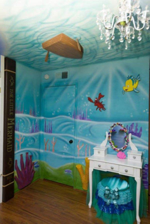 31 Funny Pics & Memes ~ girl's bedroom, little mermaid, under the sea