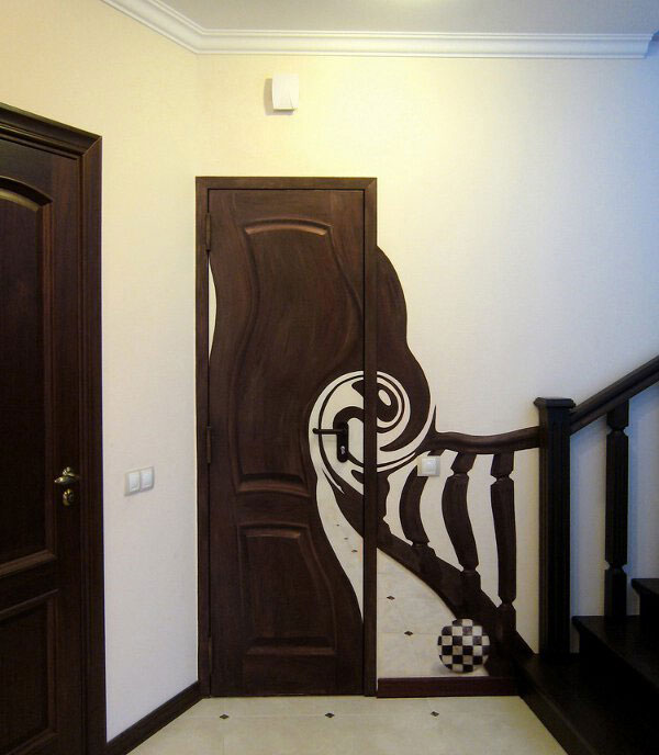 Funny Pics, Cool Stuff ~ Surrealistic door staircase painting