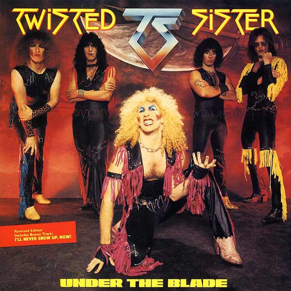 31 Funny Pics & Memes ~ Twisted Sister album cover, Under the Blade