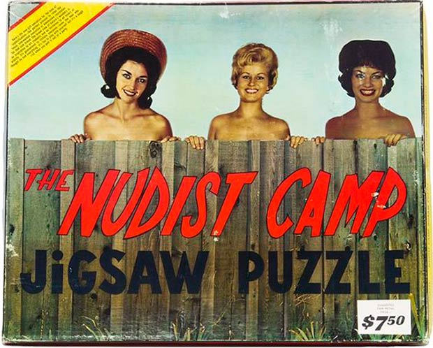 33 Funny Pics ~ vintage nudist camp jigsaw puzzle